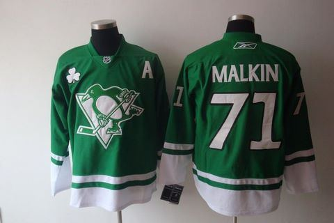 st partys day nhl pittsburgh penguins 71 evgeni malkin green