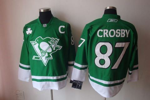 st partys day nhl pittsburgh penguins 87 sidney crosby green